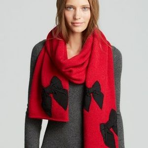 Kate Spade Stitched Bow Scarf & Hand Warmers